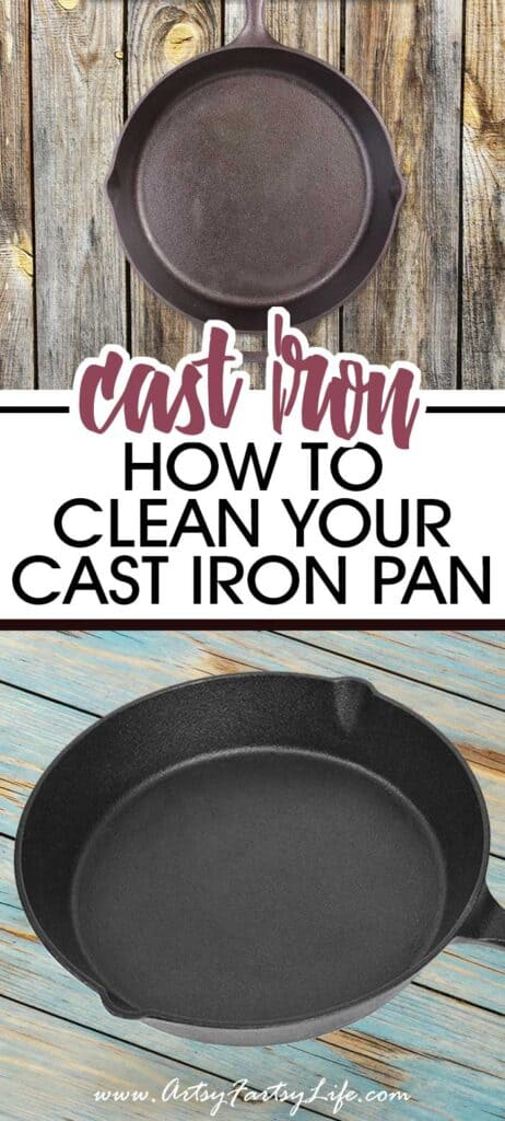 How To Clean Your Cast Iron Skillet, Pot or Pan