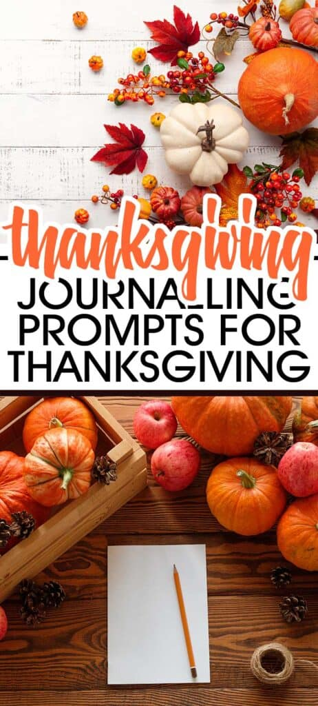 Journaling Prompts For Thanksgiving