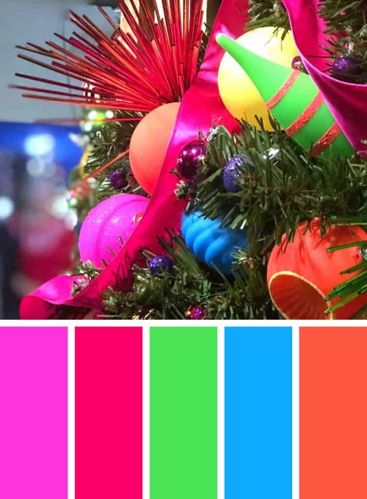 Bright Colorful Christmas Color Palette