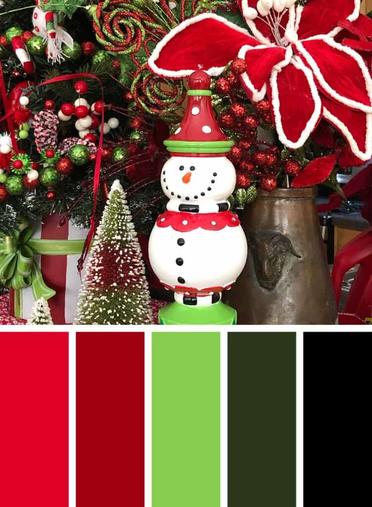 Modern Red and Lime Green Christmas Color Palette