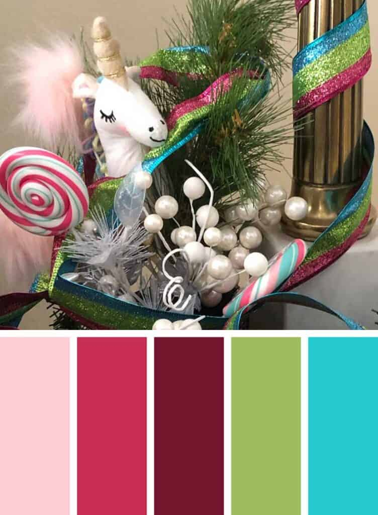 Unicorn Candy Christmas Color Palette