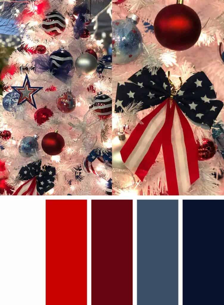 Patriotic Christmas Color Palette
