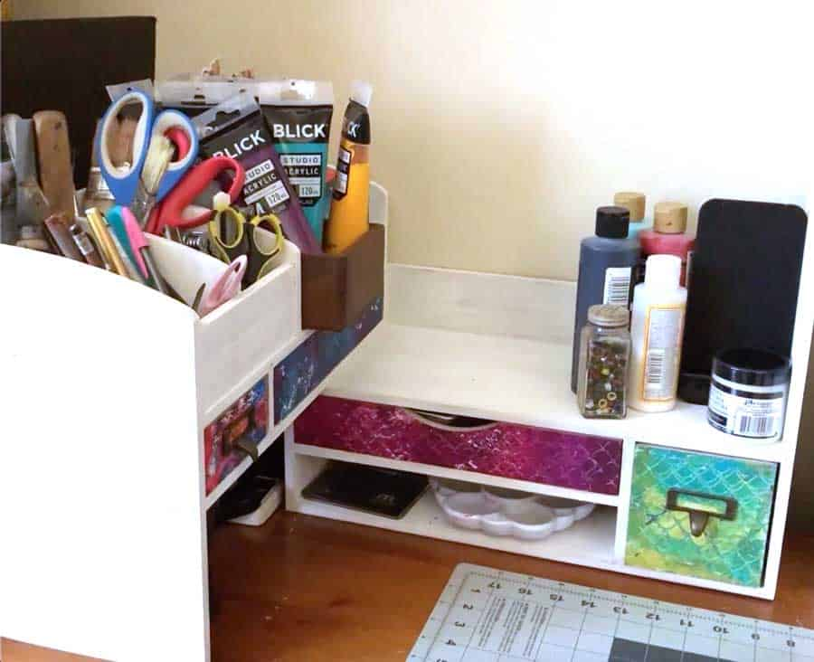 Best desktop corner organizer craft storage unit