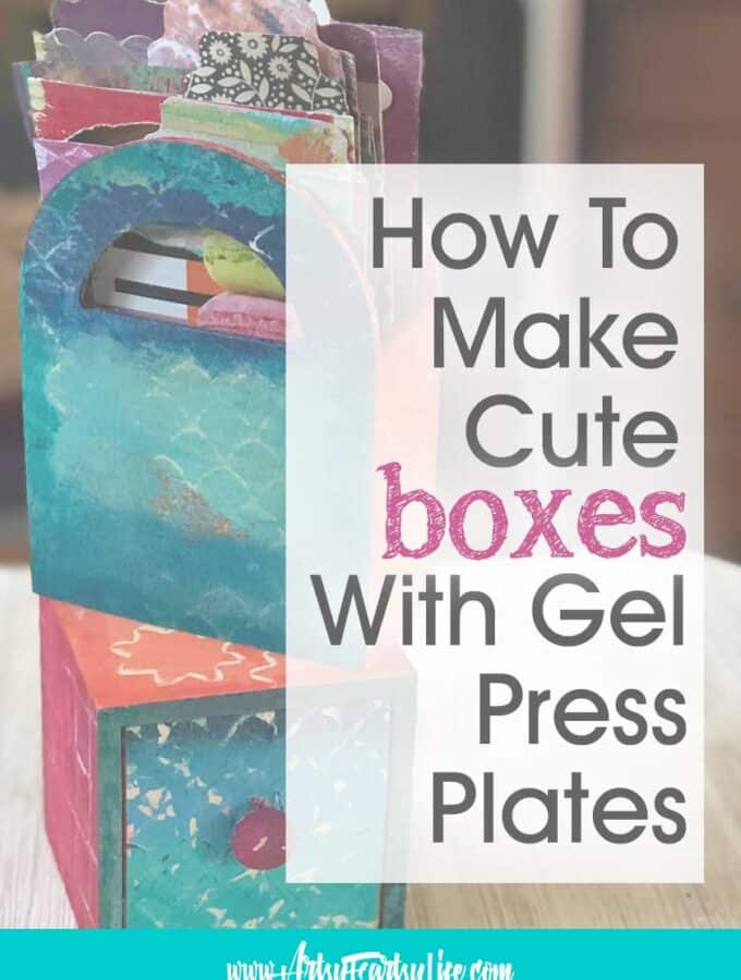 How To Make Decorative Storage Boxes Using Gel Press Plates