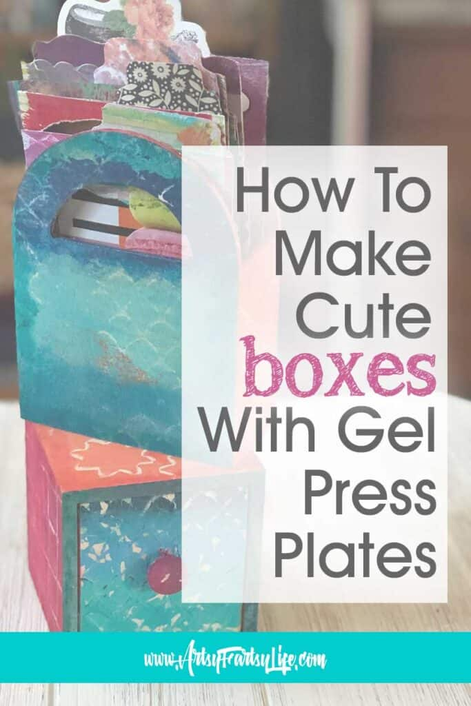 How To Make Decorative Storage Boxes Using Gel Press