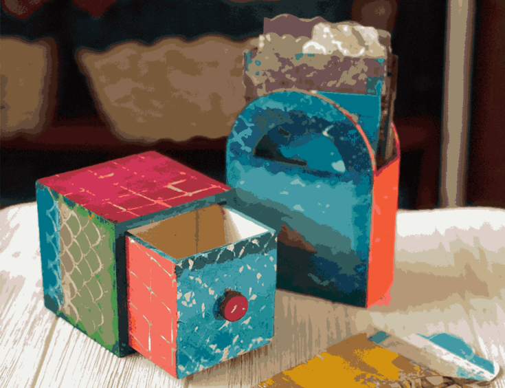 How To Make Decorative Boxes Using A Gel Press Plate