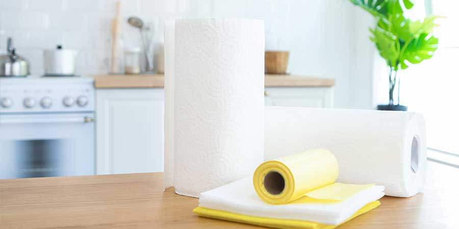 Home made kitchen wipes