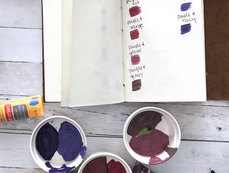 How To Mix Different Colors of Paint With Purple
