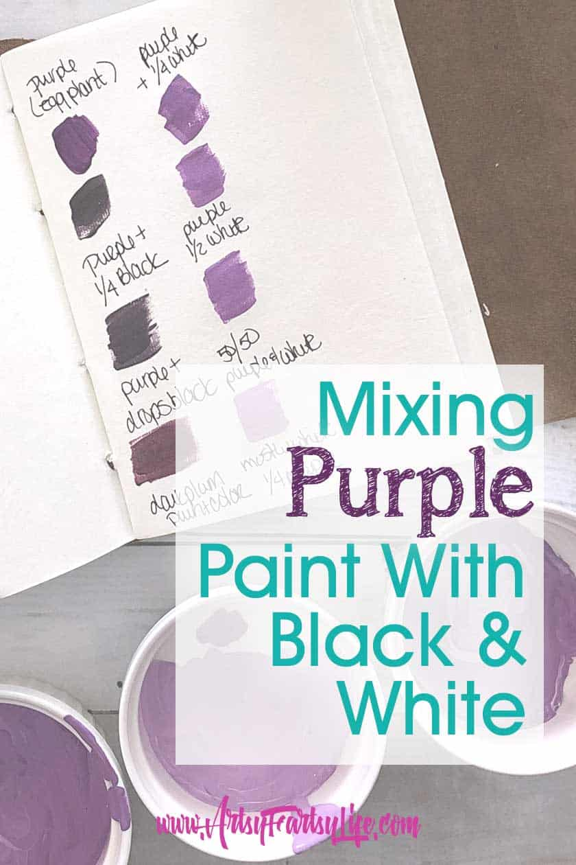 Mixing Purple Paint with Black and White