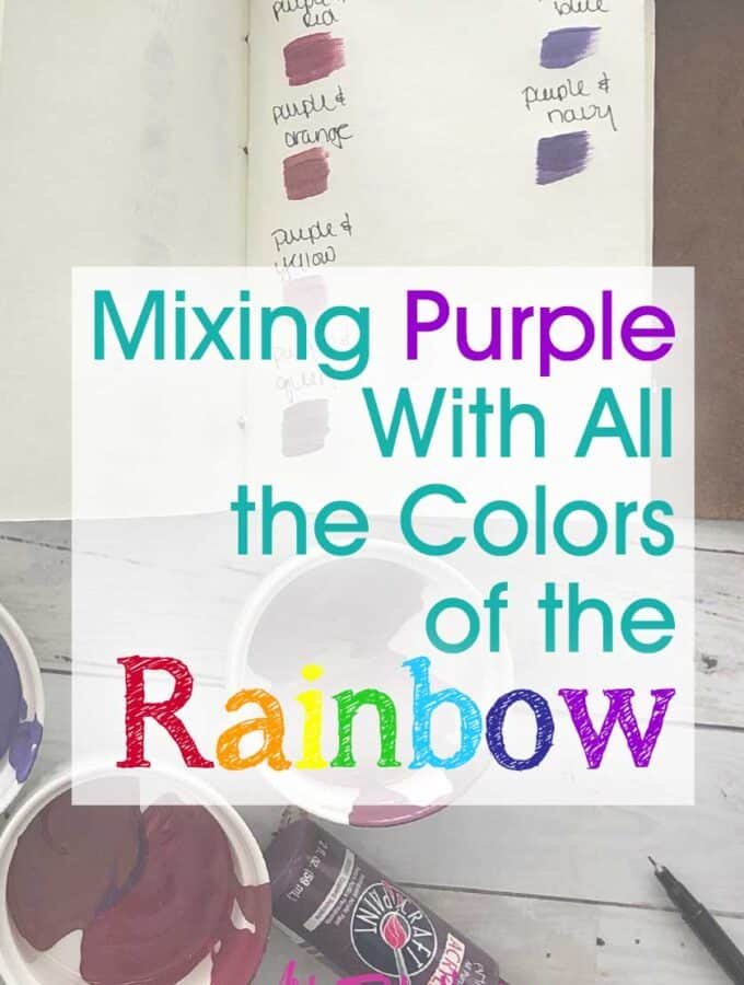 Mixing Purple With All The Colors of the Rainbow