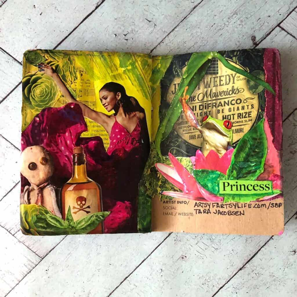 The Princess and the Frog. Tara Jacobsen - The Sketchbook Project.