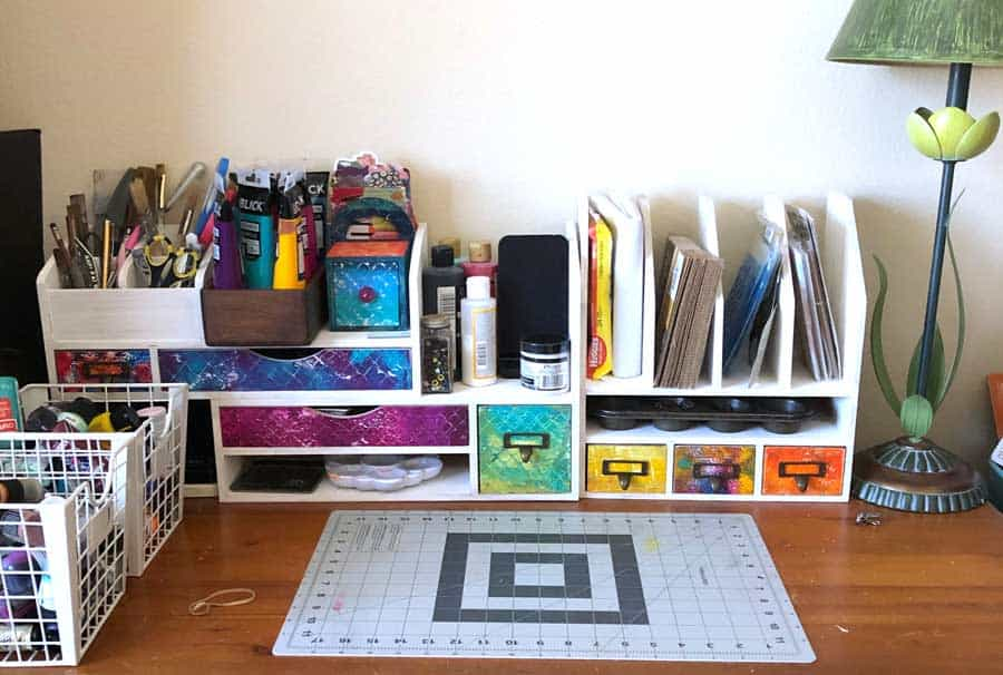 The best desktop storage unit for craft supplies!