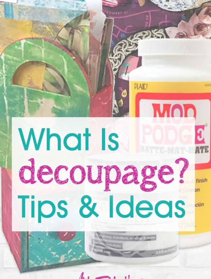 What is decoupage?