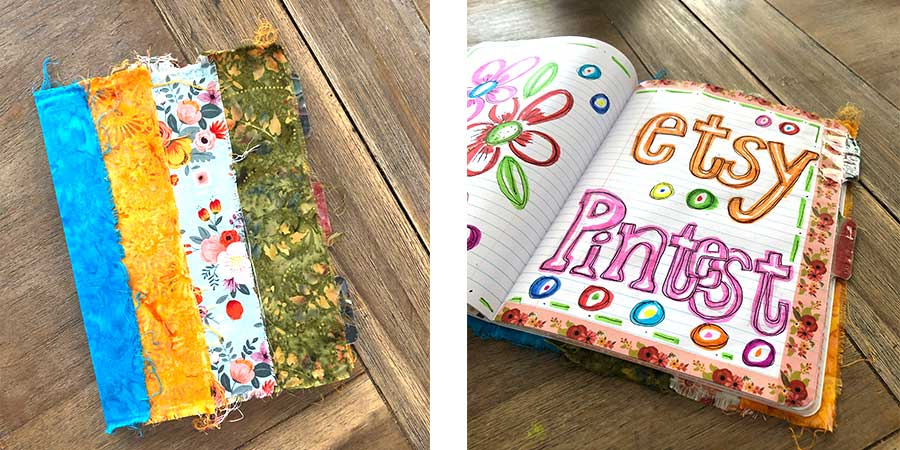 Fabric covered composition book