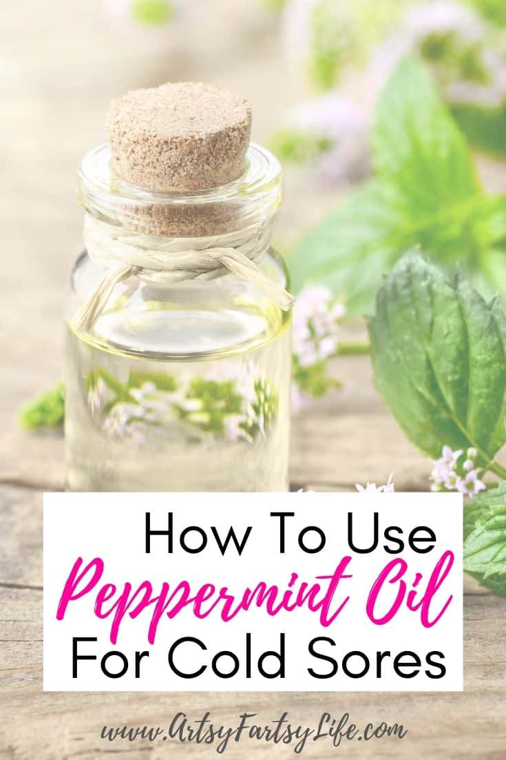 How to use peppermint essential oils for cold sores.