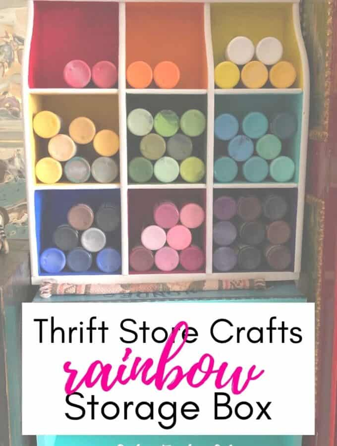 Thrift Store Crafts - Rainbow Storage Box