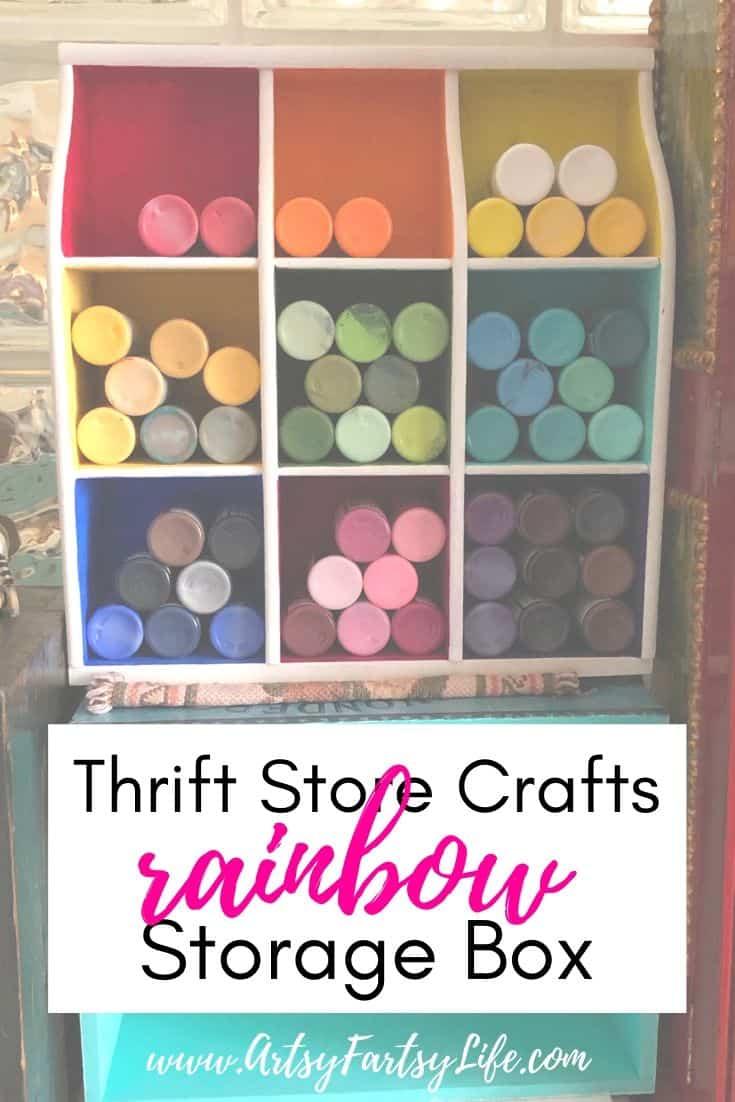 Thrift Store Crafts - Rainbow Storage Box