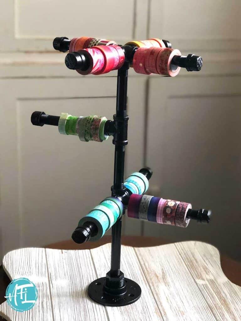 Jewelry Pipes Washi Tape Storage
