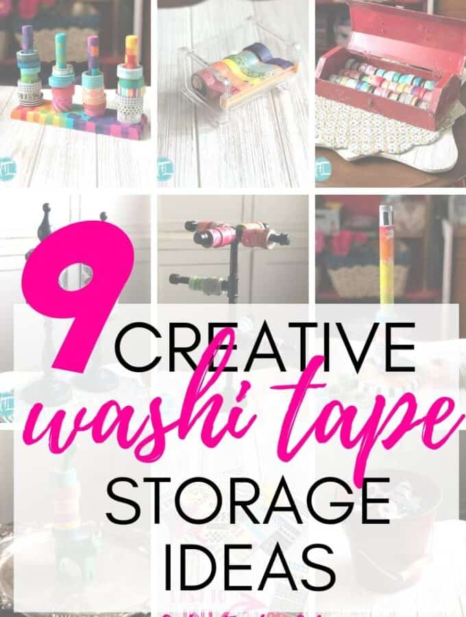 9 Creative Washi Tape Storage Ideas
