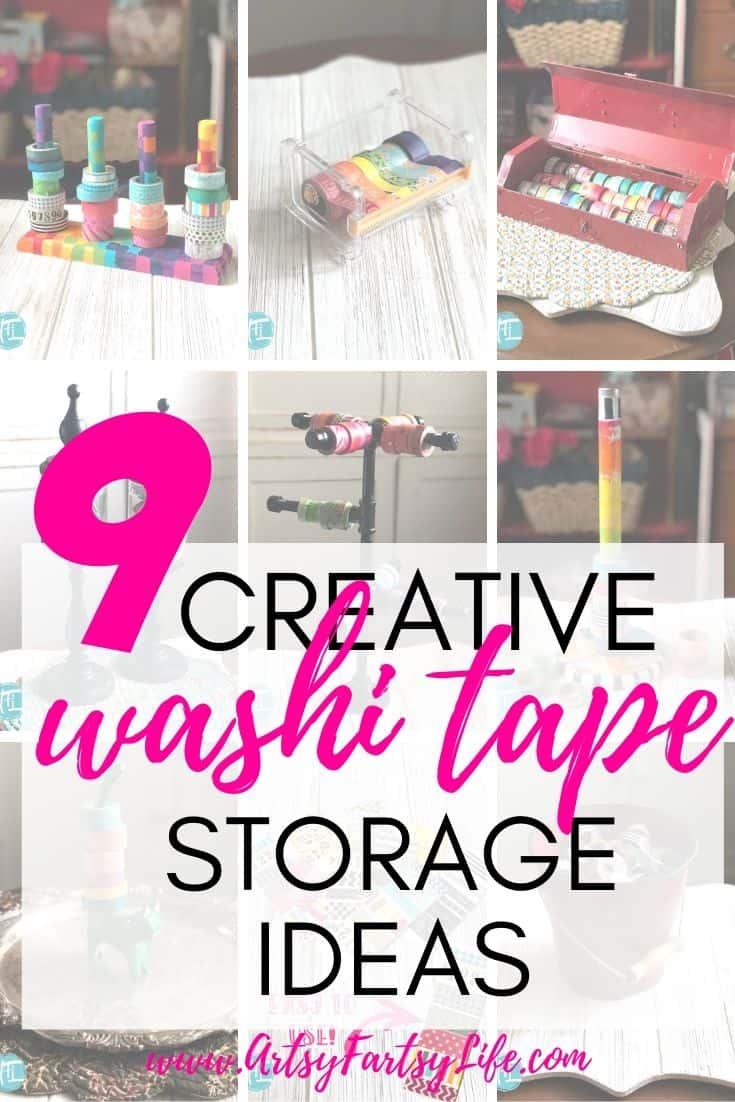 9 Creative Washi Tape Storage Ideas