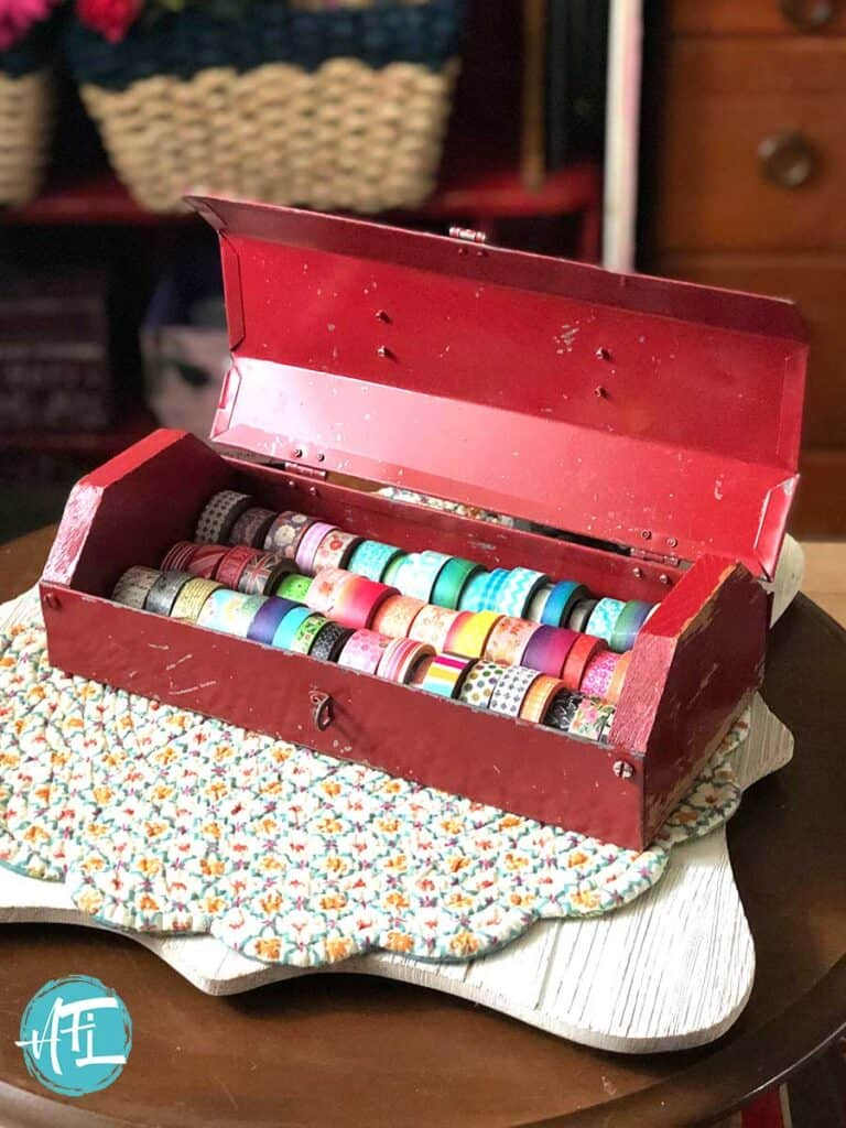 Vintage Toolbox for Washi Tape Storage