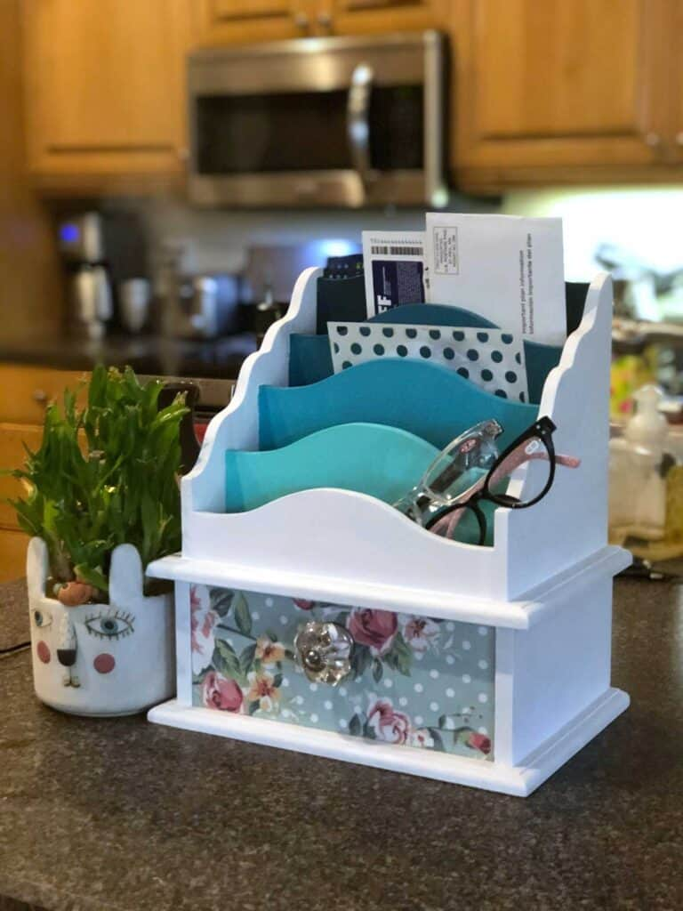 Thrift Store Crafts - Upcycle Mail Station