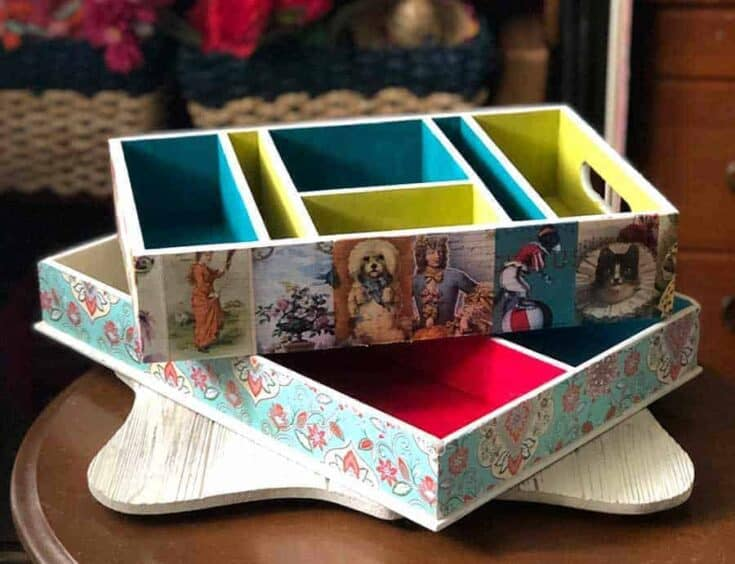 Vintage Crafts - DIY Decoupage Decorated Boxes