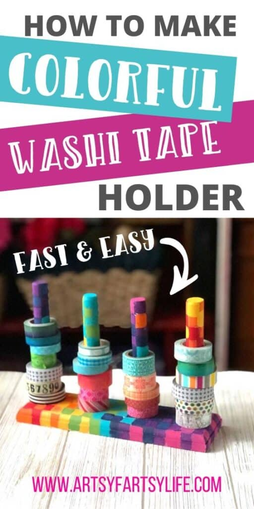 Colorful DIY Washi Tape Holder