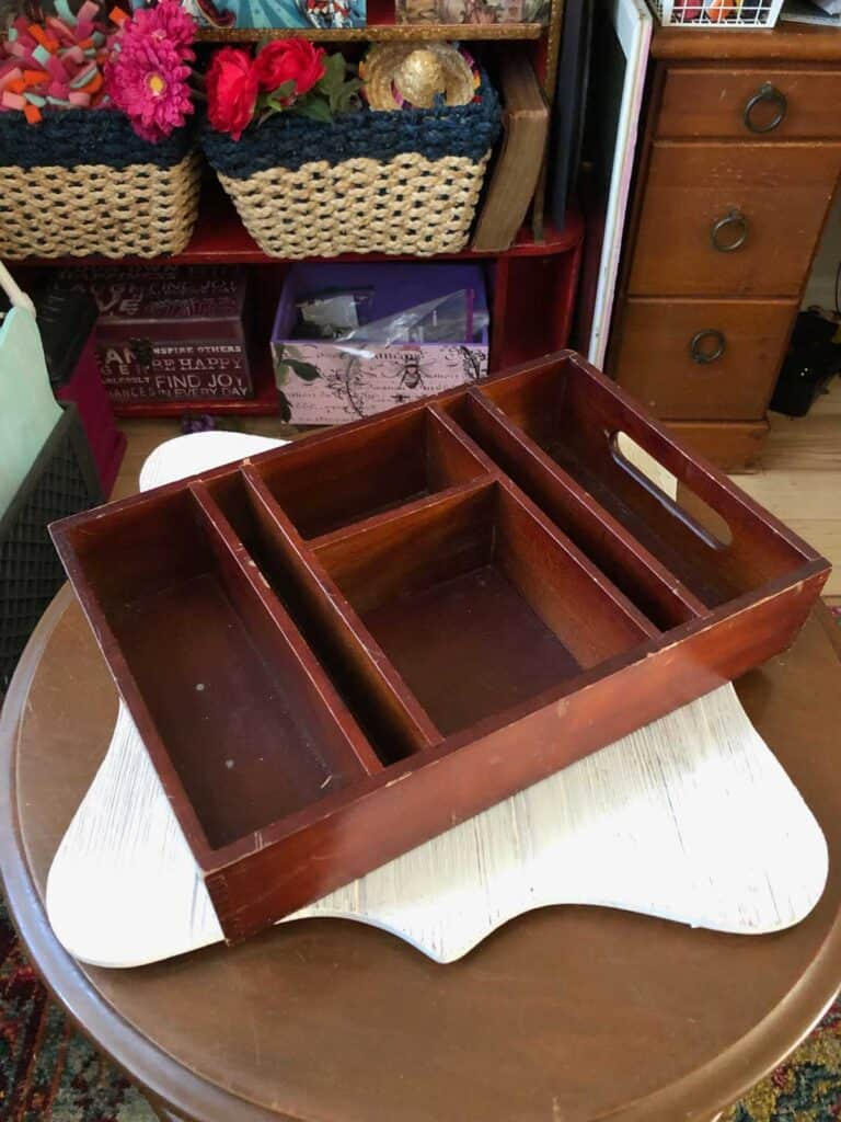 Old thrift store box for storage