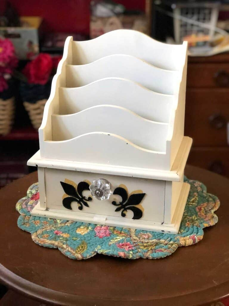Thrift store crafts - vintage mail station