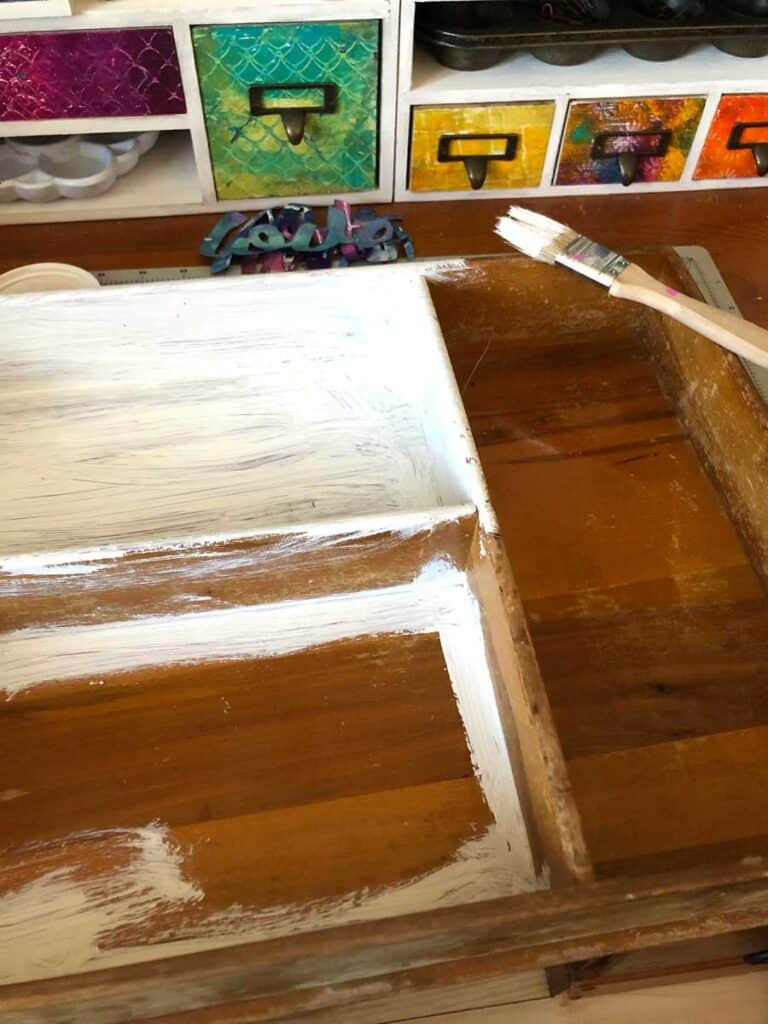 Using Gesso To Prime My Thrift Store Crafts Box