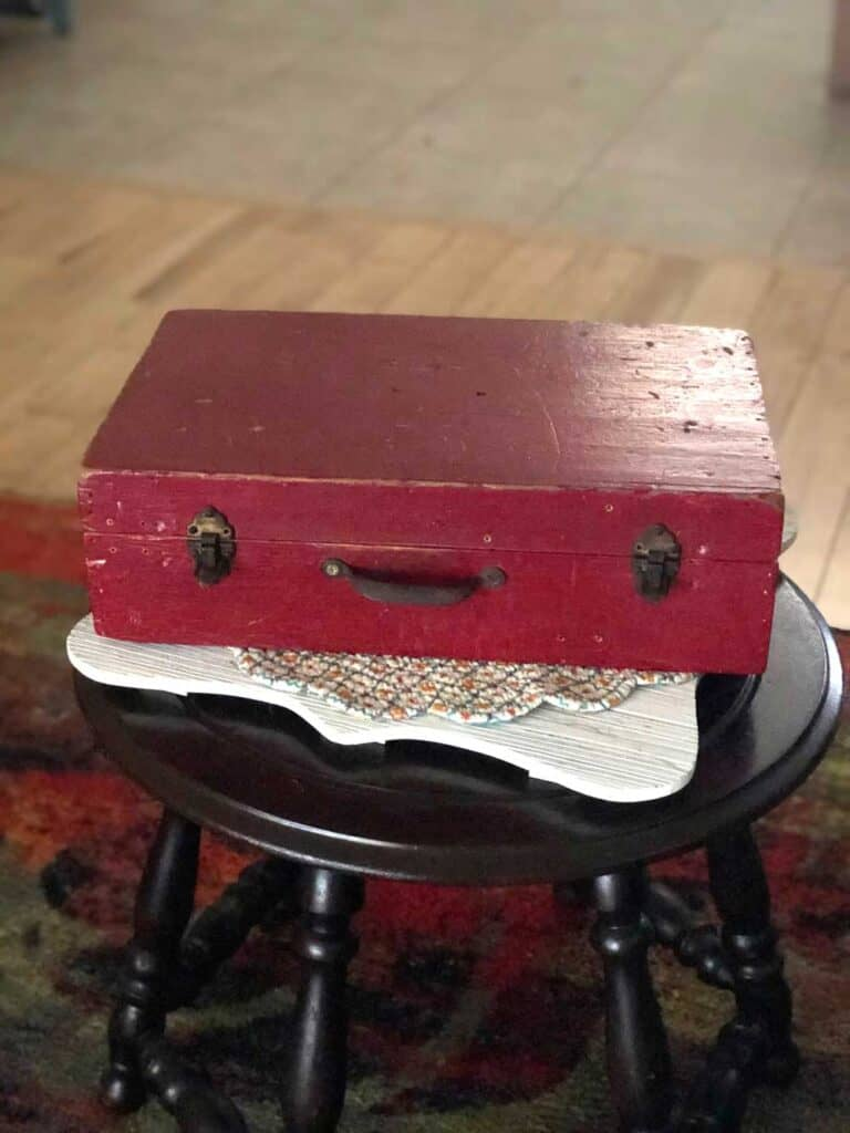 Vintage Red Box For Faux Apothecary Case