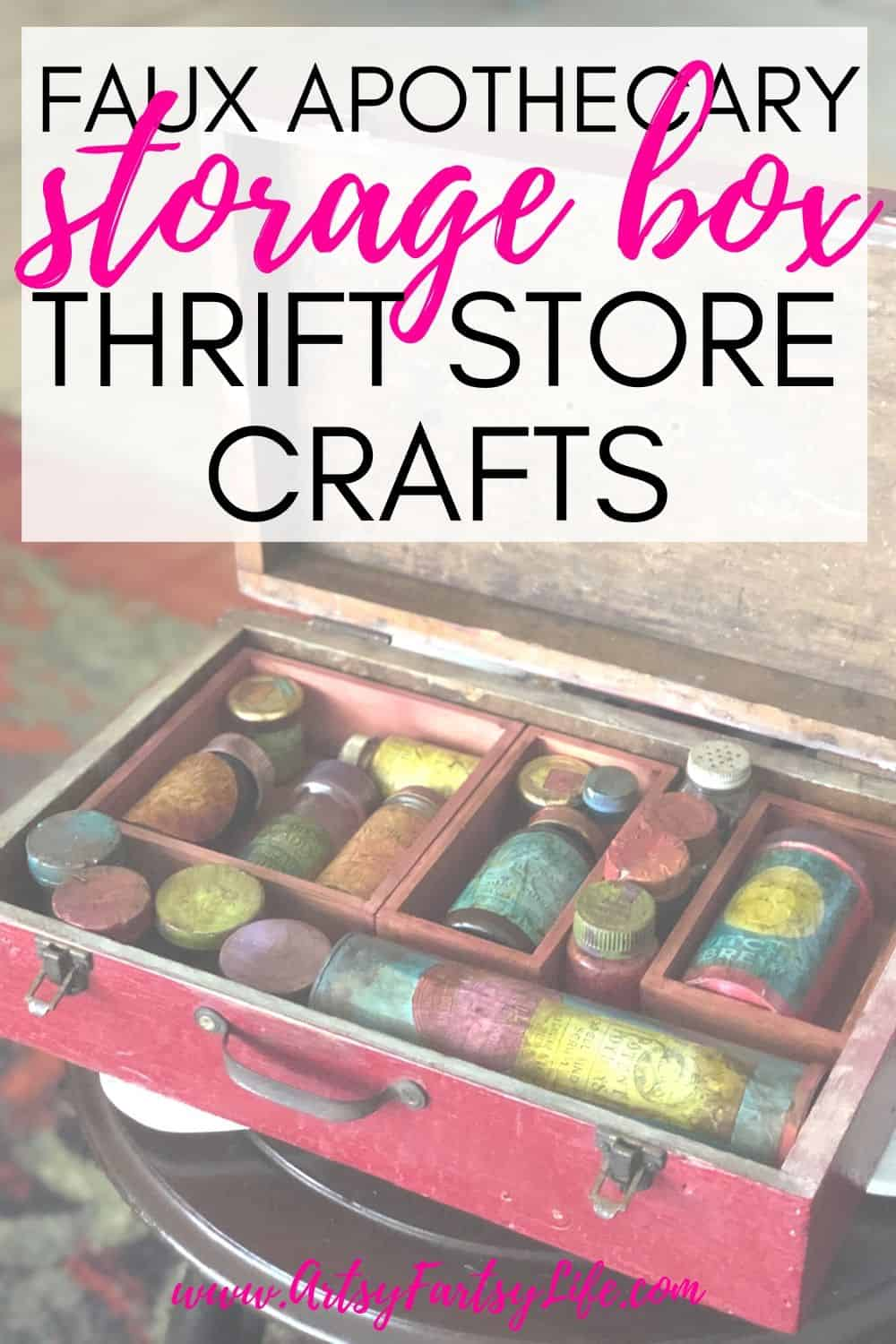 Faux Apothecary Case - Thrift Store Crafts