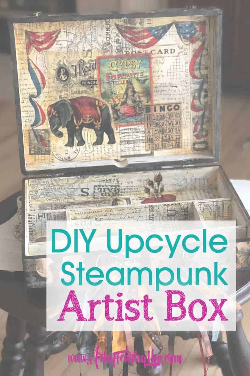 Steampunk Artist Box - Upcycled Thrift Store Finds