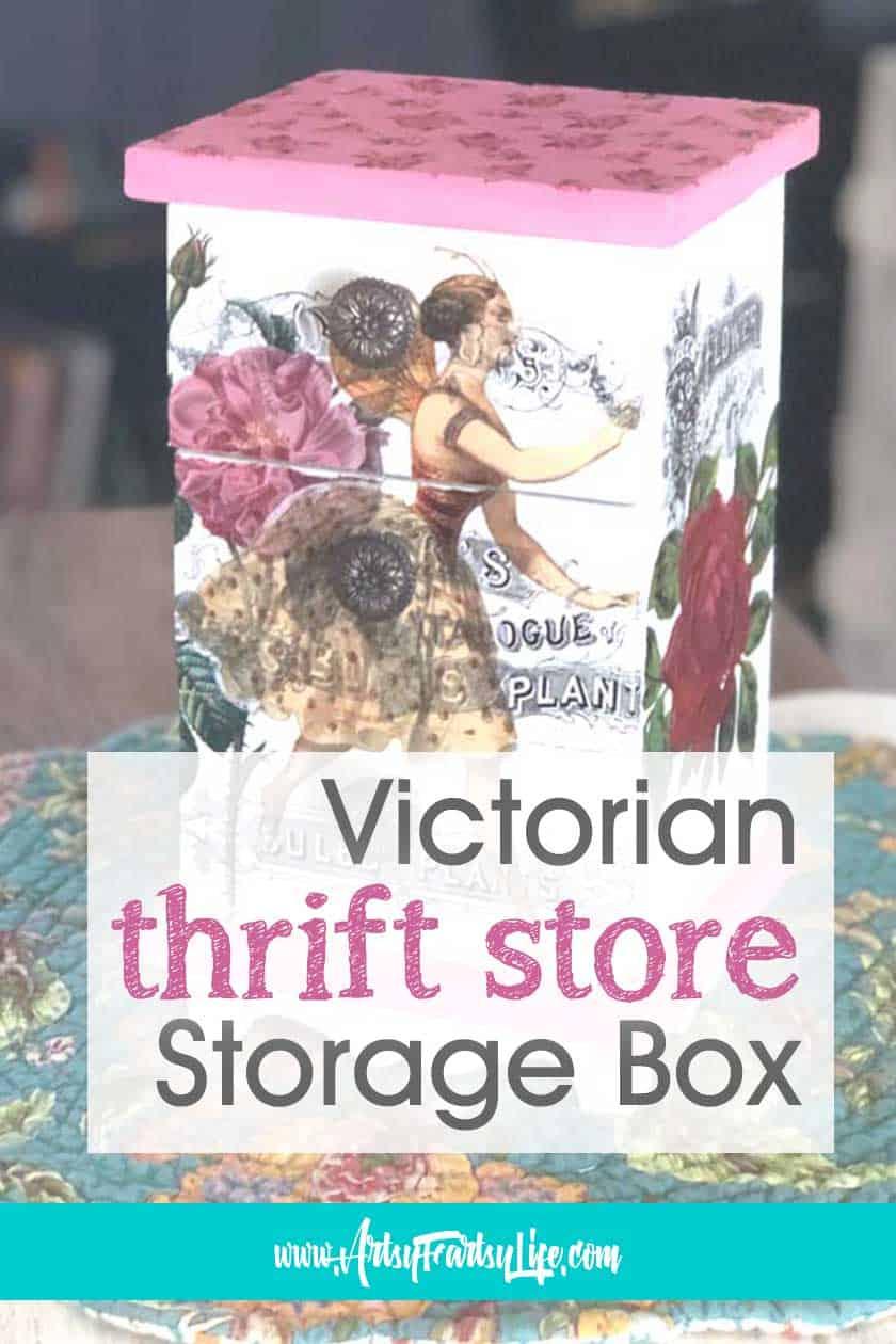 Victorian Thrift Store Decoupage Storage Box