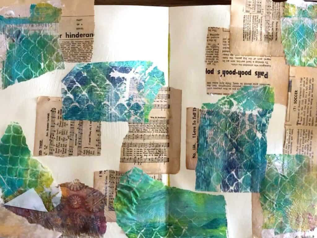 Texture Backgrounds Using Vintage Paper and Gel Plate Tissue Paper