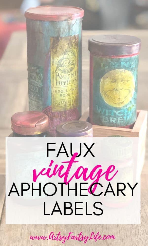 Faux Vintage Apothecary Labels (Halloween Labels)