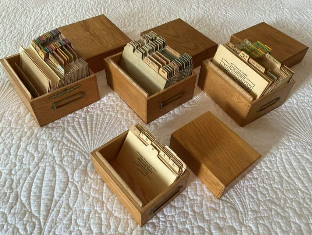 File boxes for stamp and die organization