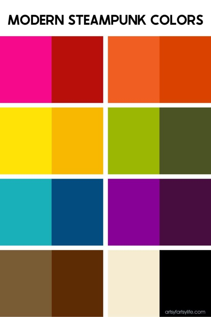 Modern Steampunk Color Chart