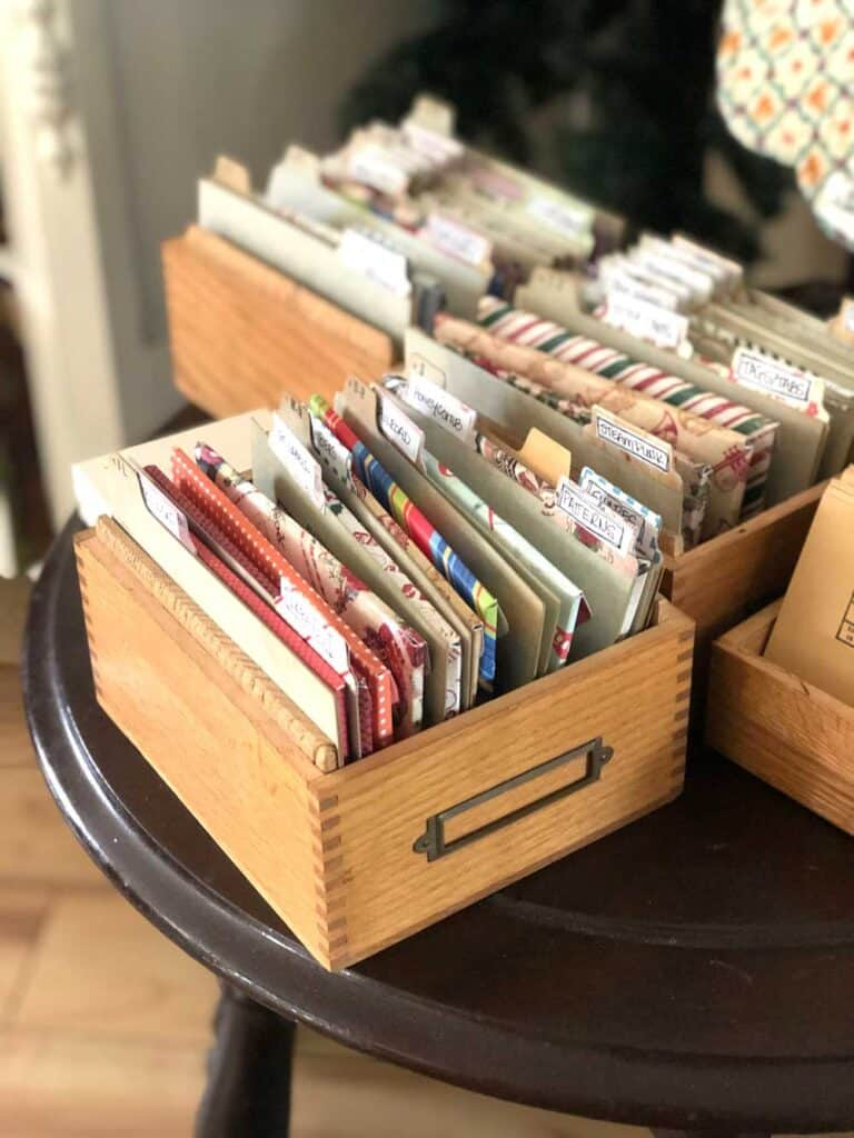 Stamp and Die Vintage Storage Boxes - Index Cards