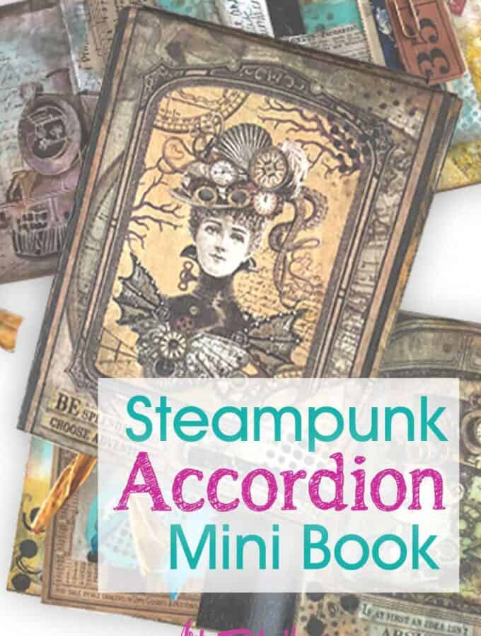 Steampunk Accordion Book - Dina Wakley Class