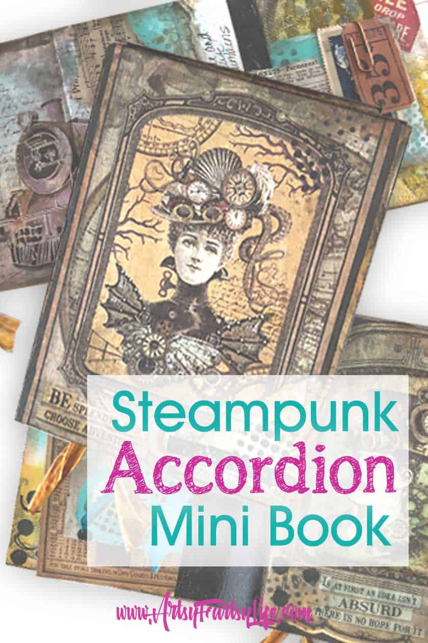 Steampunk Accordion Book - Dina Wakley Class