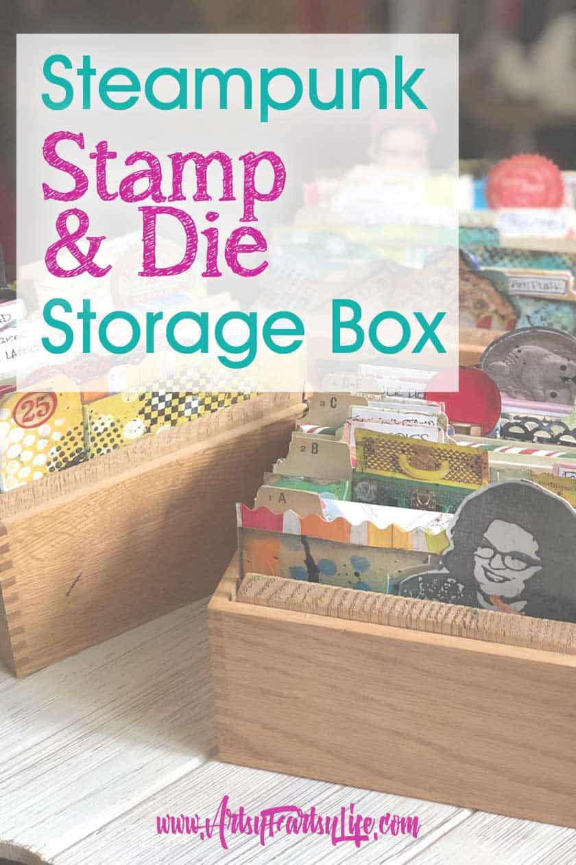 Stamp and Die Storage Box - Steampunk Altered Rolodex Cards