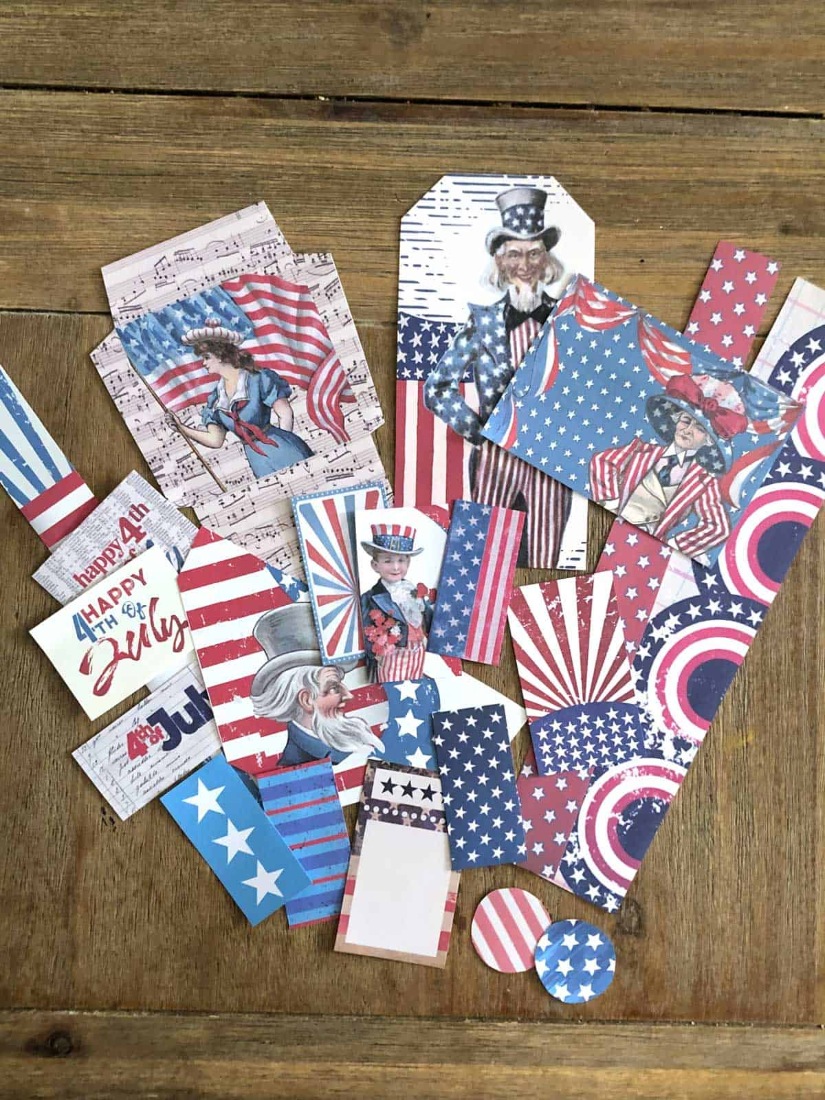 Free Printable 4th of July Ephemera - All Cut Out
