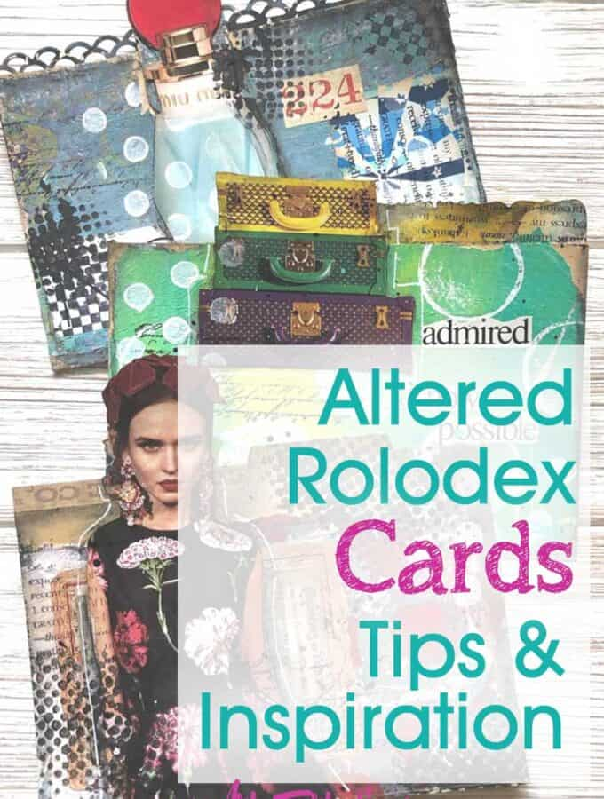 Altered Rolodex Cards - Tips and Ideas