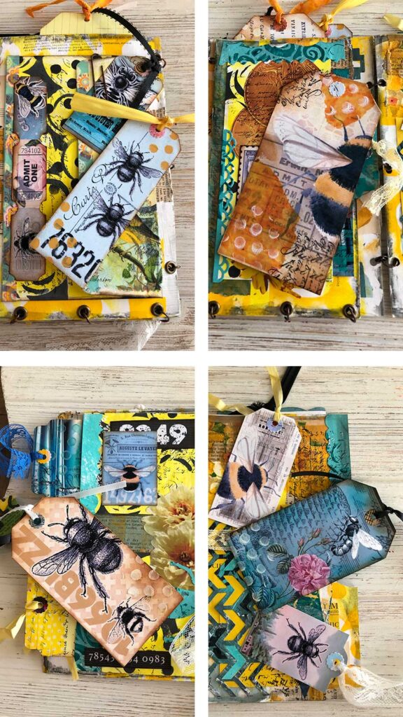 Free Printable Bee Tags Used In My Flip Pages Journal
