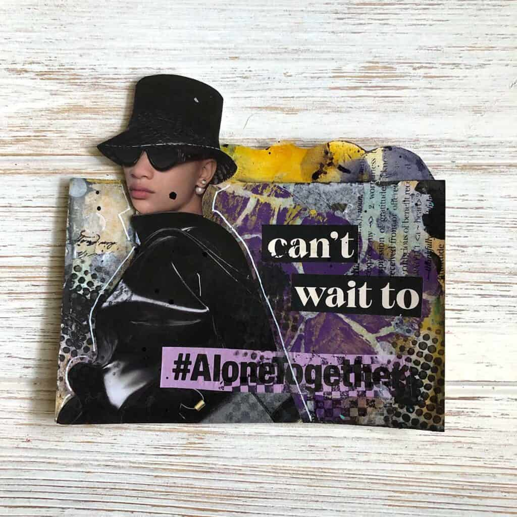 Undercover Woman - Purple Black and Yellow Rolodex Card