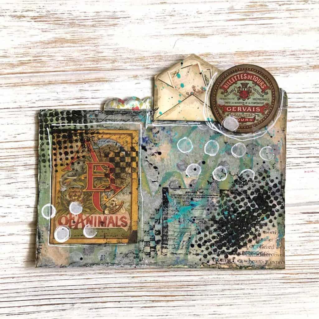 Vintage Labels and Envelope Rolodex Card