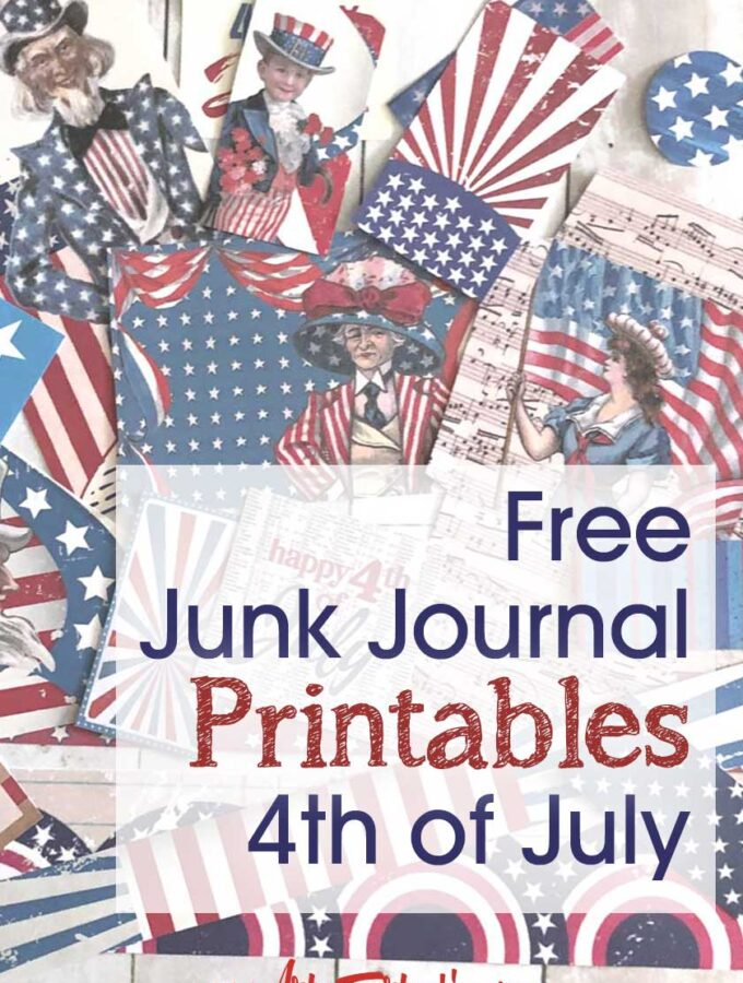 Free Printable 4th of July Junk Journal and Scrapbook Ephemera