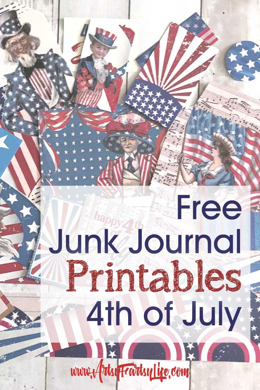 Free Printable 4th of July Junk Journal and Scrapbook Ephemera